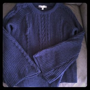 Marled Reunited Cable Knit Bell Sleeve Sweater